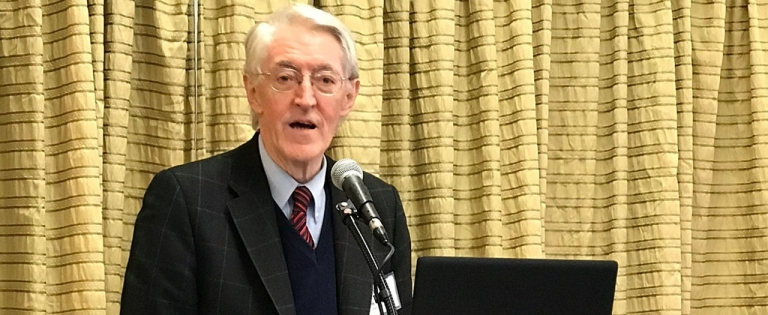 Dr. Frank O'Connor at podium