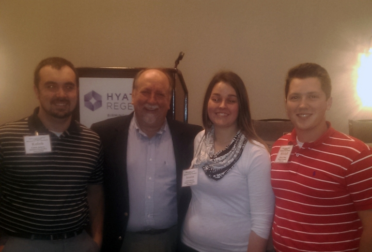 EKU students with Ed Duett (2nd from left)