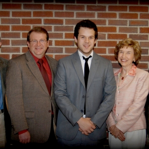 2011 Collegiate Business Concept Challenge winner, Andrew Pennington (center) wi